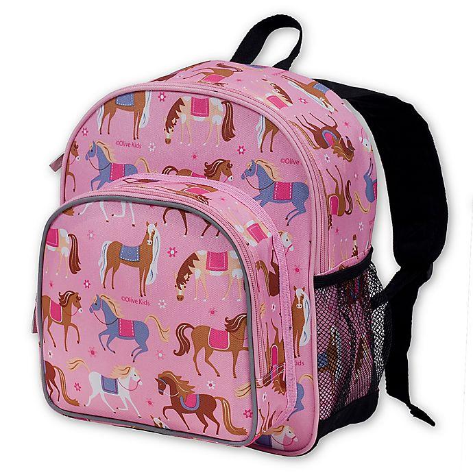 Alternate image 1 for Olive Kids Horses Pack 'n Snack Backpack