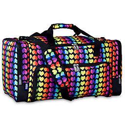 Wildkin Rainbow Hearts Weekender Duffle Bag in Black