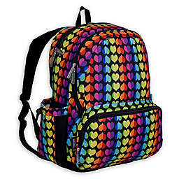 Wildkin Rainbow Hearts Megapak Backpack in Pink