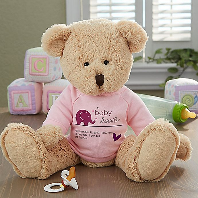 Alternate image 1 for New Arrival Baby Teddy Bear in Pink