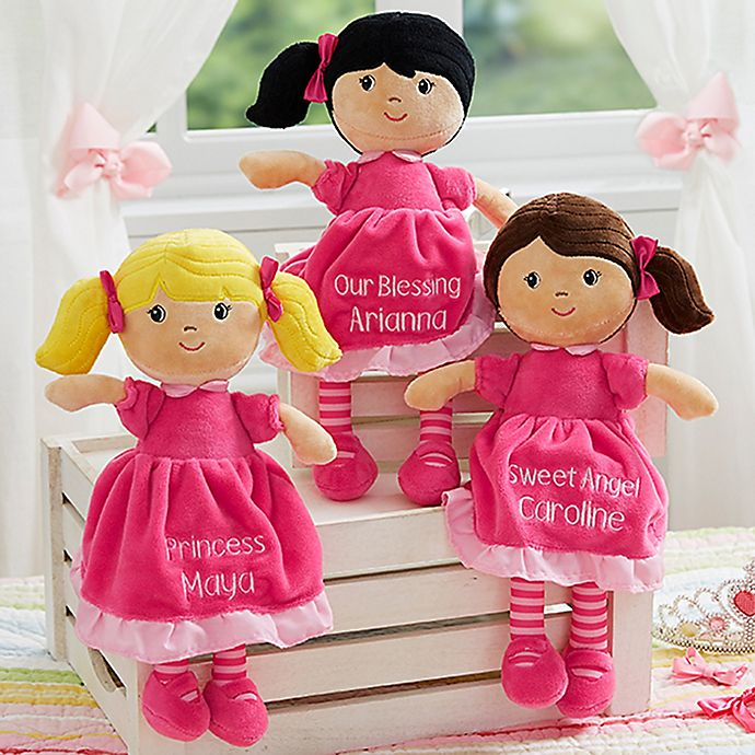Alternate image 1 for Stephen Joseph® Pretty Pink Embroidered Doll
