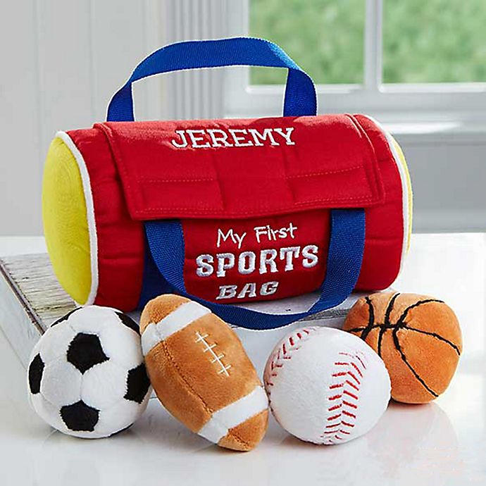 Alternate image 1 for Embroidered My First Sports Bag by Baby Gund®