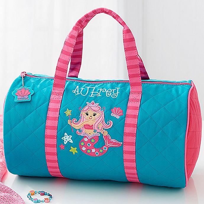 Portable Luggage Duffel Bag Beautiful Mermaid Travel Bags Carry-on In Trolley Handle