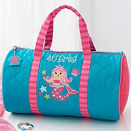 Stephen Joseph® Mermaid Embroidered Duffel Bag in Teal