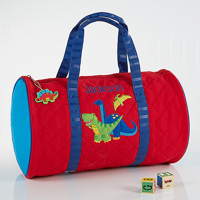 Alternate image 1 for Stephen Joseph Red Dino Embroidered Duffel Bag in Red