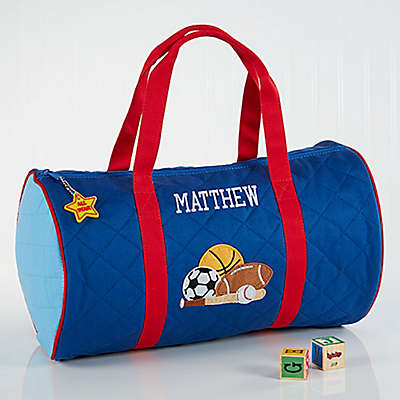 Stephen Joseph® Embroidered All-Star Duffel Bag in Blue