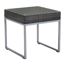Zuo® Malibu Patio Side Table in Brown