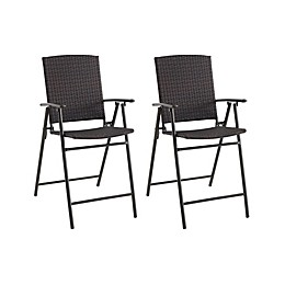 All-Weather Wicker Balcony Chairs (Set of 2)