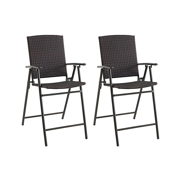Alternate image 1 for All-Weather Wicker Balcony Chairs (Set of 2)