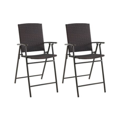 Barrington Folding Balcony Wicker Chairs Set Of 2 Bed