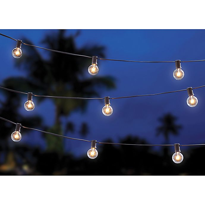 Cafe String Lights: Buy 20-Bulb Solar Café String Lights From Bed Bath & Beyond