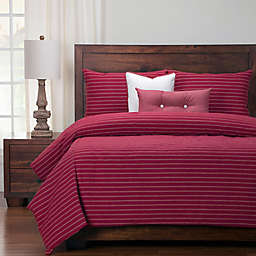 Siscovers® Modern Farmhouse Twin Duvet Cover Set in Red/Beige