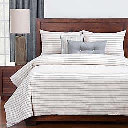 Siscovers® Modern Farmhouse Full Duvet Cover Set in Beige/Blue