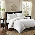 Madison Park Signature 600-Thread-Count Infinity Cotton Full/Queen Duvet Cover Set in White