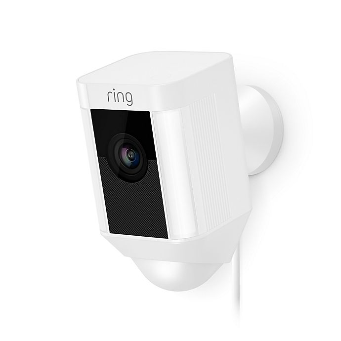 Alternate image 1 for Ring® Spotlight Wired Security Camera in White