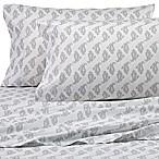 Peri Home Paisley Queen Sheet Set in Grey