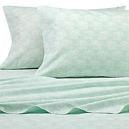 Peri Home Elephant Standard Pillowcase in Aqua