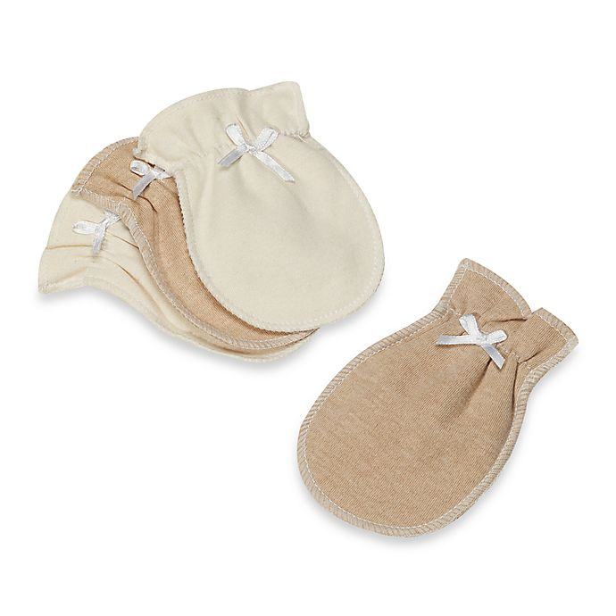 Alternate image 1 for Organic Cotton Mittens in 2 Pairs