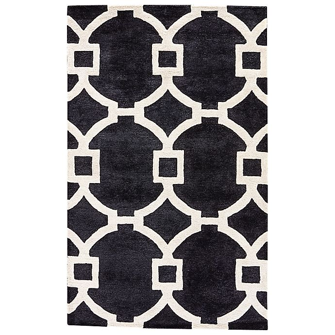 Alternate image 1 for Jaipur Regency 2-Foot x 3-Foot Accent Rug in Black/White