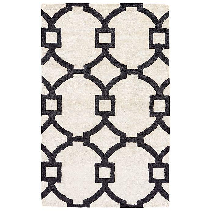 Alternate image 1 for Jaipur Regency 2-Foot x 3-Foot Area Rug in White/Black