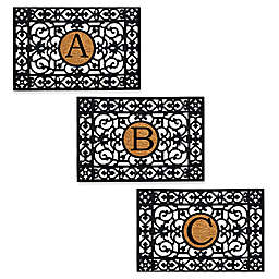 Home & More Block Letter Monogram Door Mat
