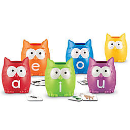 Learning Resources® 107-Piece Vowel Owls Sorting Set