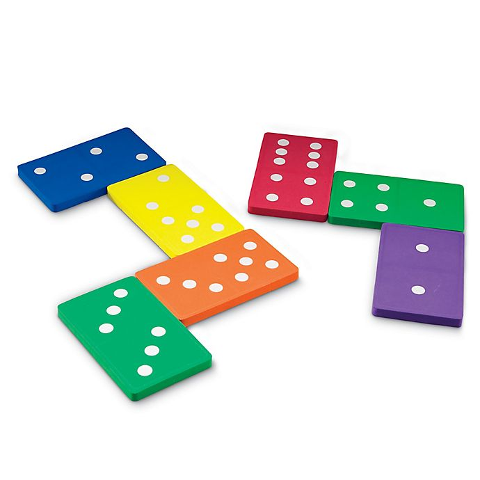 Alternate image 1 for Learning Resources® 28-Piece Jumbo Foam Dominoes Set