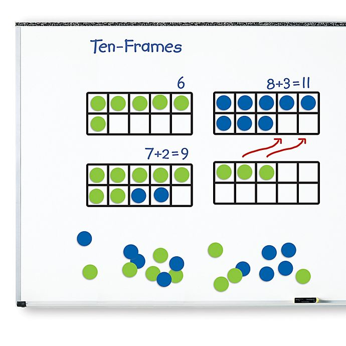 Alternate image 1 for Learning Resources® 45-Piece Giant Magnetic Ten-Frame Set
