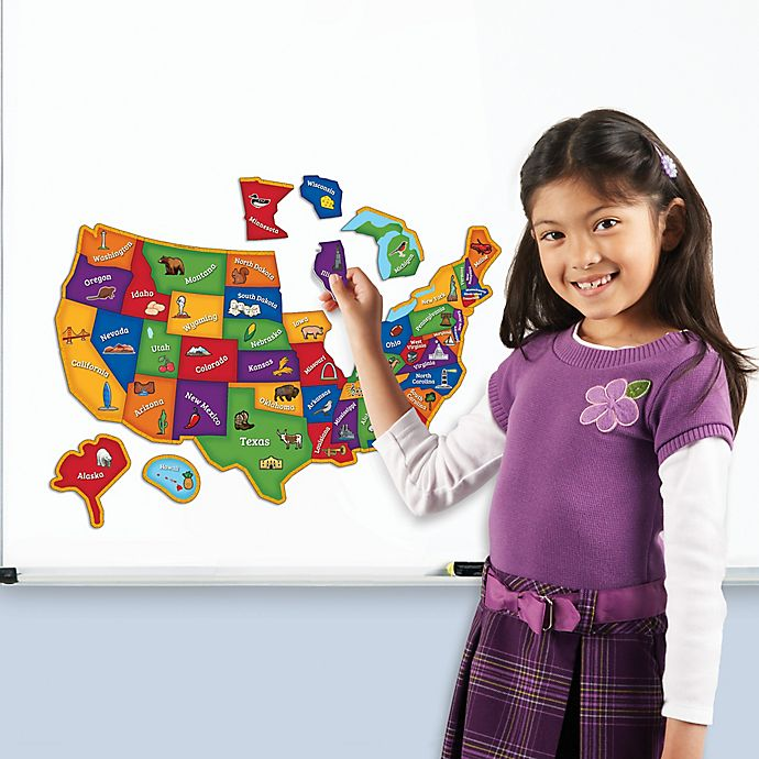Alternate image 1 for Learning Resources Magnetic U.S. Map Puzzle