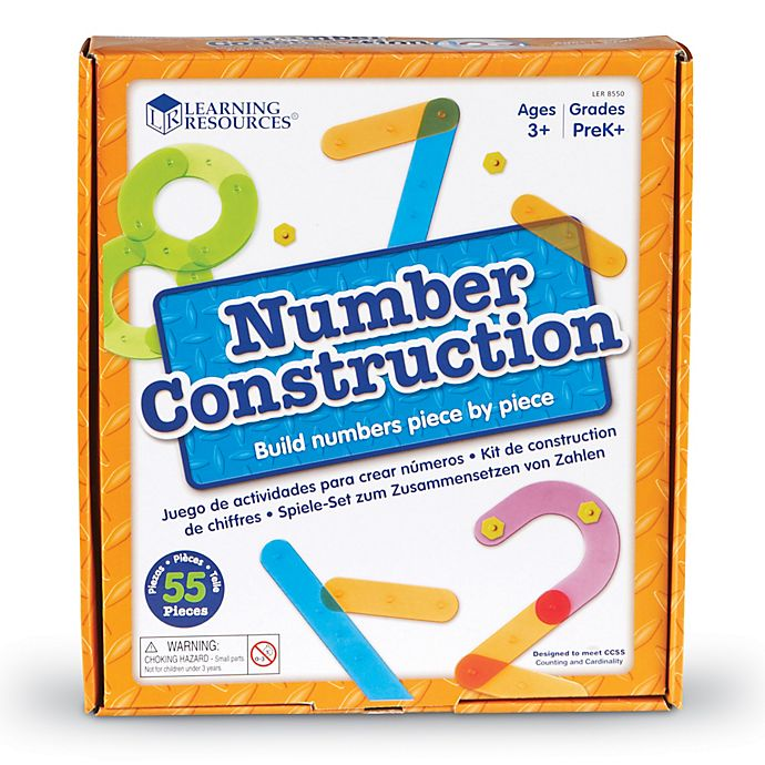 Alternate image 1 for Learning Resources® 55-Piece Number Construction Activity Set