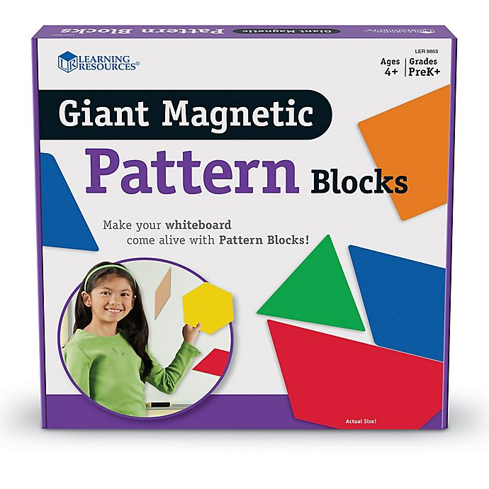 Alternate image 1 for Learning Resources® Giant Magnetic Pattern Blocks