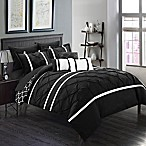 Chic Home Plymouth 10-Piece Queen Comforter Set in Black