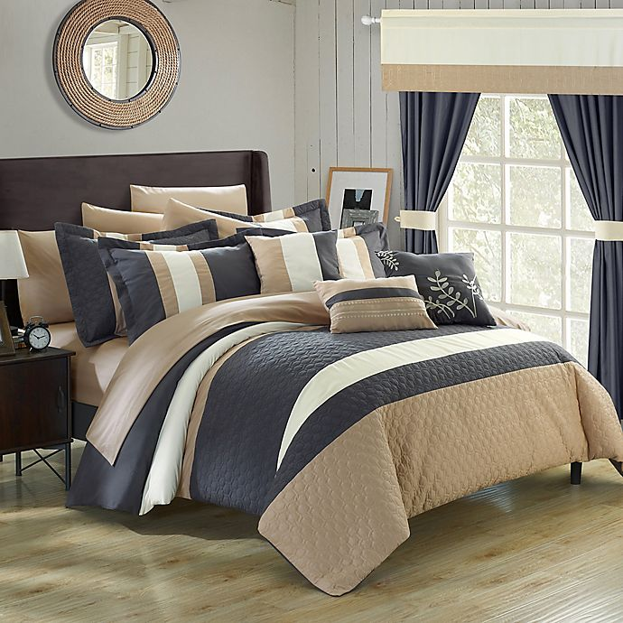 Alternate image 1 for Chic Home Placido 24-Piece Queen Comforter Set in Grey