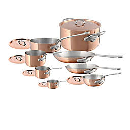 Mauviel 1830® M'150S Copper and Stainless Steel 14-Piece Cookware Set