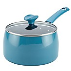 Rachael Ray™ Cityscapes Porcelain Enamel 3 qt. Covered Saucepan in Turquoise