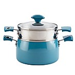 Rachael Ray™ Cityscapes 3 qt. Porcelain Enamel Covered Steamer Set in Turquoise