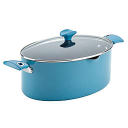 Rachael Ray™ Cityscapes Nonstick 8 qt. Porcelain Enamel Covered Pasta Pot in Turquoise