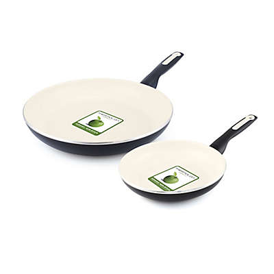 GreenPan™ Rio 8-Inch and 10-Inch Ceramic Nonstick Fry Pan Set in Black