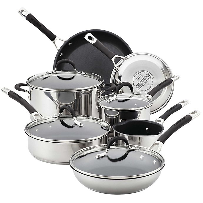 Alternate image 1 for Circulon® Momentum™ Stainless Steel Nonstick 11-Piece Cookware Set