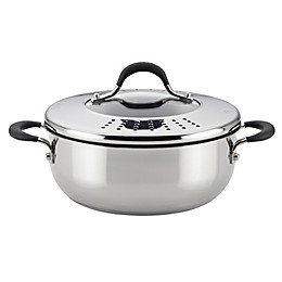Circulon® Momentum™ Stainless Steel Nonstick 4 qt. Covered Casserole with Locking Lid