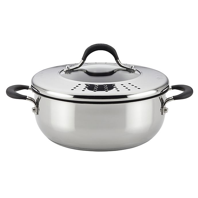Alternate image 1 for Circulon® Momentum™ Stainless Steel Nonstick 4 qt. Covered Casserole with Locking Lid