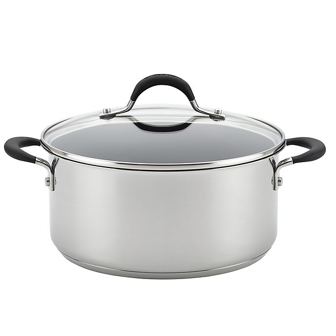 Alternate image 1 for Circulon® Momentum™ Stainless Steel Nonstick 5 qt. Covered Dutch Oven