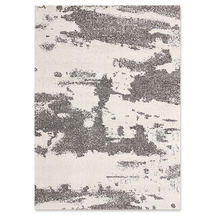 Alternate image 1 for Ren-Wil Alberto Abstract 5-Foot 2-Inch x 7-Foot 2-Inch Area Rug in White/Grey