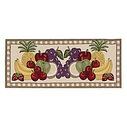 Nourison Everywhere Fruit 1-Foot 10-Inch x 4-Foot 6-Inch Accent Rug in Brown