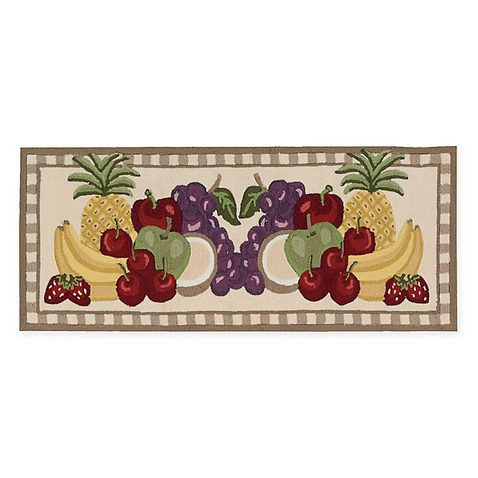 Alternate image 1 for Nourison Everywhere Fruit 1-Foot 10-Inch x 4-Foot 6-Inch Accent Rug in Brown