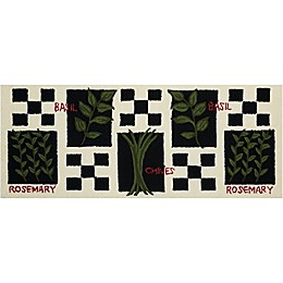 Nourison Everywhere 22-Inch x 56-Inch Spice Kitchen Mat in Black/White