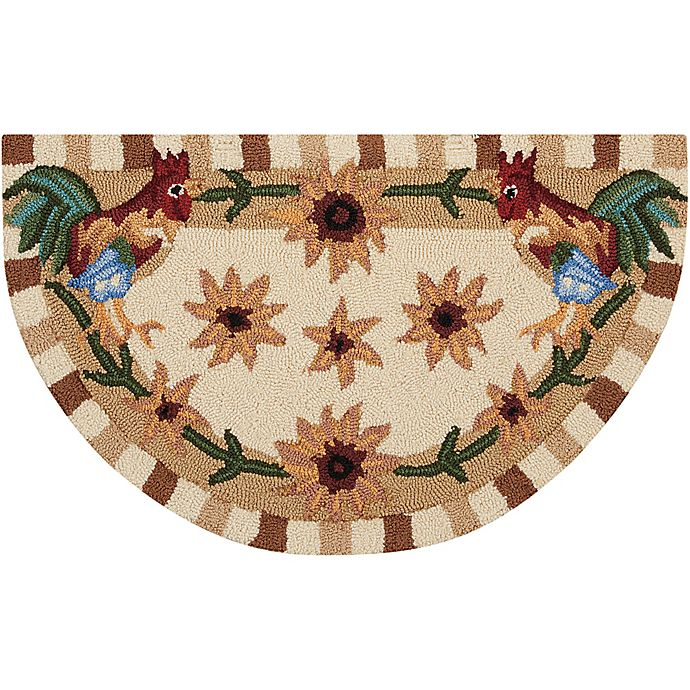 Nourison Everywhere 32-Inch X 19-Inch Roosters Kitchen Rug