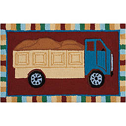 Nourison Everywhere 18-inch x 30-inch Dump Truck Multicolor Kids Accent Rug