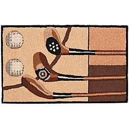 Nourison Everywhere 18-Inch x 30-Inch Golf  Kitchen Mat in Taupe