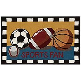 Nourison Everywhere 18-Inch x 30-Inch Sports Fan Kitchen Mat
